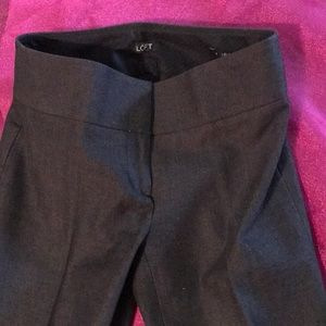 Ann Taylor LOFT Julie Boot Cut Charcoal Gray Pant